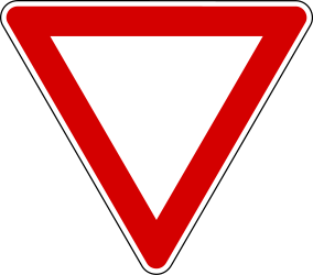 Traffic sign of Turkey: Give way to all drivers
