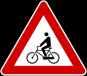 Traffic sign of Turkey: Warning for <a href='/en/turkey/overview/cyclist'>cyclists</a>