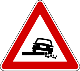 Traffic sign of Turkey: Warning for a <b>soft</b> <a href='/en/turkey/overview/verge'>verge</a>