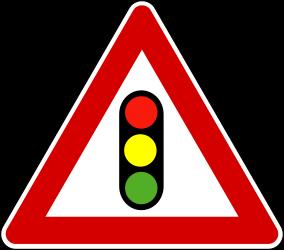 Traffic sign of Turkey: Warning for a <a href='/en/turkey/overview/traffic-lights'>traffic light</a>