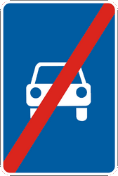 Traffic sign of Ukraine: End of the expressway