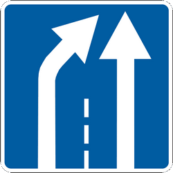 Traffic sign of Ukraine: End of a lane