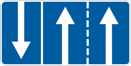 Traffic sign of Ukraine: Overview of the <a href='/en/ukraine/overview/lane'>lanes</a> and their direction