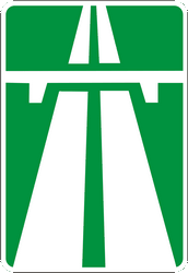 Traffic sign of Ukraine: Begin of a motorway