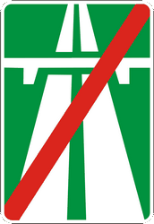Traffic sign of Ukraine: End of the motorway