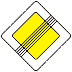 Traffic sign of Ukraine: End of the priority road