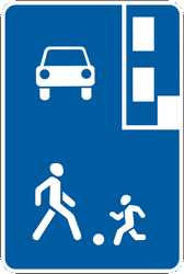 Traffic sign of Ukraine: Begin of a residential area
