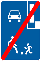 Traffic sign of Ukraine: End of the residential area