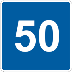 Traffic sign of Ukraine: Begin of an advisory speed limit