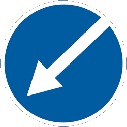 Traffic sign of Ukraine: Passing left mandatory