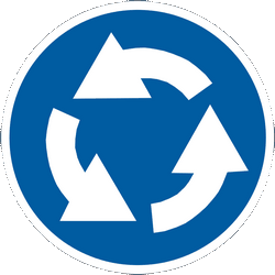 Traffic sign of Ukraine: Mandatory direction of the roundabout