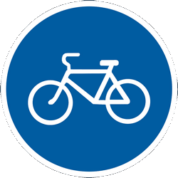 Traffic sign of Ukraine: Mandatory path for cyclists