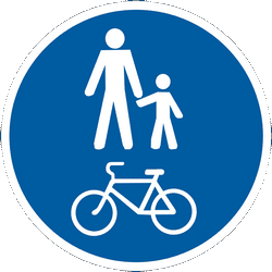 Traffic sign of Ukraine: Mandatory shared path for pedestrians and cyclists