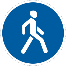 Traffic sign of Ukraine: Mandatory path for pedestrians