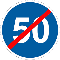 Traffic sign of Ukraine: End of the minimum speed
