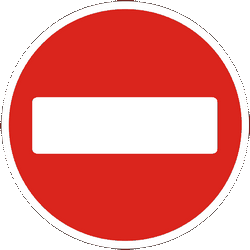 Traffic sign of Ukraine: Entry prohibited (road with one-way traffic)