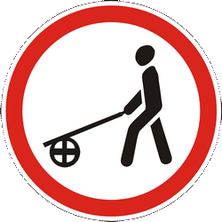 Traffic sign of Ukraine: Handcarts prohibited