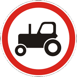 Traffic sign of Ukraine: Tractors prohibited