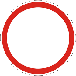 Traffic sign of Ukraine: Entry prohibited