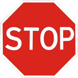 Traffic sign of Ukraine: Stop and give way to all drivers