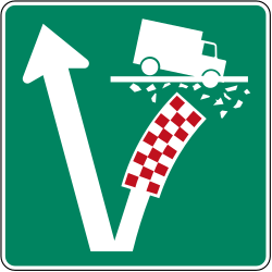 Traffic sign of Canada: Place where you can make an <a href='/en/canada/overview/runaway-truck-ramp'>emergency stop</a>