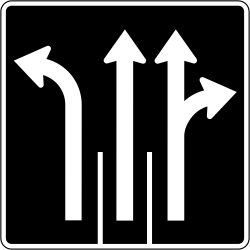 Traffic sign of Canada: Overview of the <a href='/en/canada/overview/lane'>lanes</a> and their direction