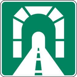 Traffic sign of Canada: Begin of a <a href='/en/canada/overview/tunnel'>tunnel</a>