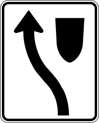 Traffic sign of Canada: Passing left mandatory