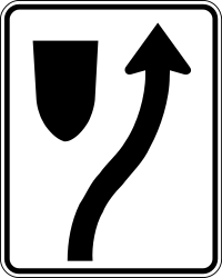 Traffic sign of Canada: Passing right mandatory