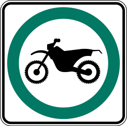 Traffic sign of Canada: Mandatory path for mopeds