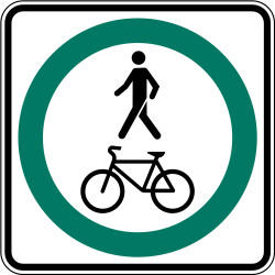 Traffic sign of Canada: Mandatory shared path for pedestrians and cyclists