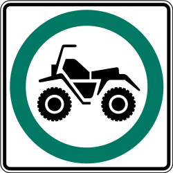 Traffic sign of Canada: Mandatory path for snowmobiles