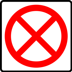 Traffic sign of Mexico: Entry prohibited
