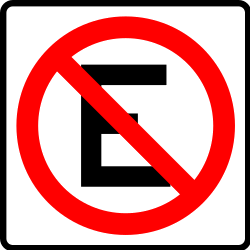 Traffic sign of Mexico: Parking prohibited