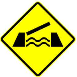 Traffic sign of Mexico: Warning for a movable bridge
