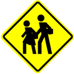 Traffic sign of Mexico: Warning for children
