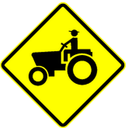 Traffic sign of Mexico: Warning for <a href='/en/mexico/overview/tractor'>tractors</a>