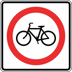 Traffic sign of Panama: Mandatory path for cyclists