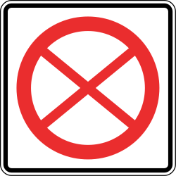 Traffic sign of Panama: Entry prohibited