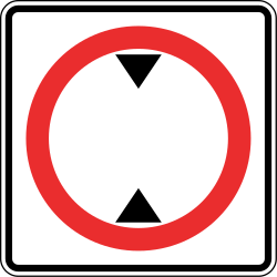 Traffic sign of Panama: Vehicles higher than indicated prohibited