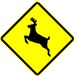 Traffic sign of Panama: Warning for crossing deer