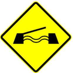 Traffic sign of Panama: Warning for a movable bridge