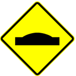 Traffic sign of Panama: Warning for a speed bump