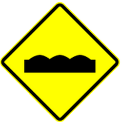 Traffic sign of Panama: Warning for a bad road surface