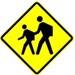 Traffic sign of Panama: Warning for children