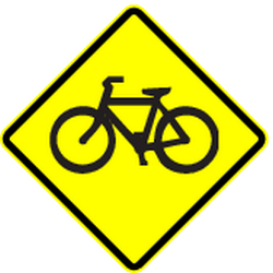 Traffic sign of Panama: Warning for cyclists