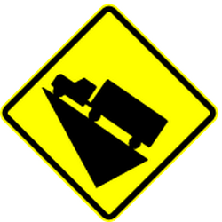 Traffic sign of Panama: Warning for a steep ascent