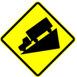 Traffic sign of Panama: Warning for a steep descent