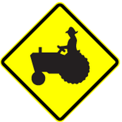 Traffic sign of Panama: Warning for tractors