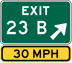 Traffic sign of United States: Information about the next exit